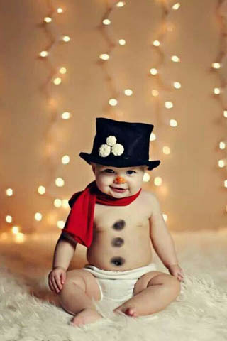 Cute Funny Baby Christmas Wallpaper Mobile Wallpaper