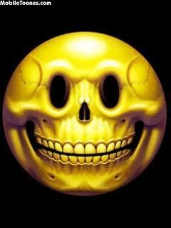 Skull Smile Mobile Wallpaper
