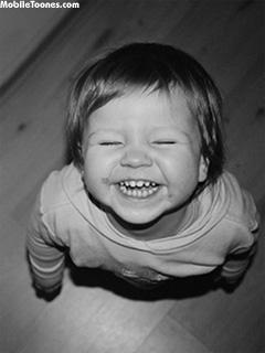 Laughing Kid Mobile Wallpaper