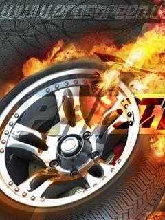 Fire Wheel Mobile Wallpaper