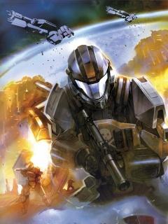 Halo Comic Art  Mobile Wallpaper