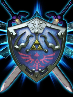 Hyrule Shield Mobile Wallpaper