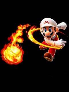 Mario Fire Mobile Wallpaper