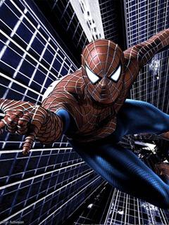 Spider Man On Building Mobile Wallpaper