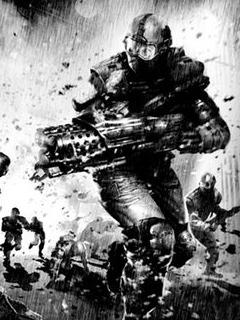 Battle Fear And Machin Gun Mobile Wallpaper