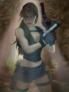 Lara Croft Mobile Wallpaper