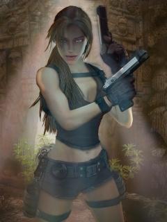 Lara Croft Mobile Wallpaper