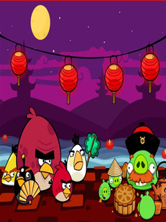 Angry Bird Chine Mobile Wallpaper