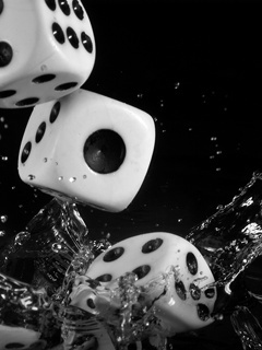 Water Dice Mobile Wallpaper