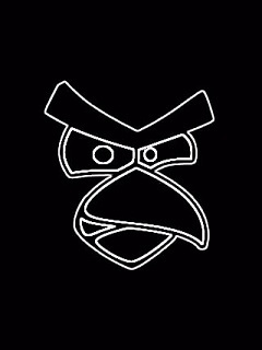 Black Angry Bird Mobile Wallpaper