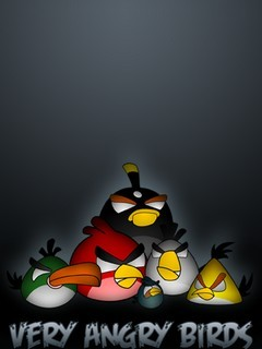 Very Angry Birds Mobile Wallpaper