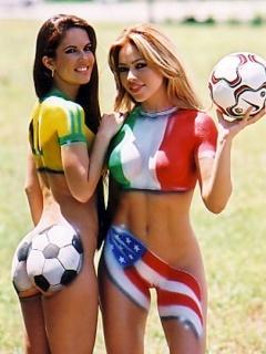 Hot Football Girls Mobile Wallpaper