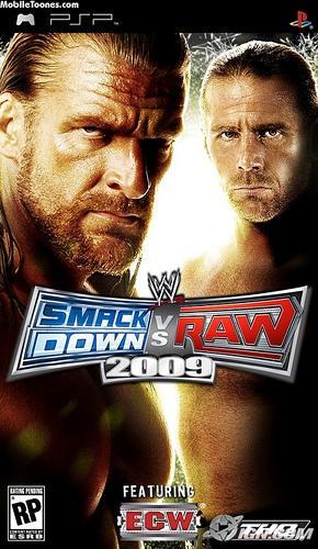 WWE Smackdown VS RAW 2009 PSP Wallpaper Mobile Wallpaper