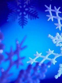 Blue Snow Flake Mobile Wallpaper