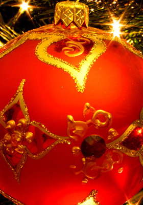 Christmas Ball Ornament IPhone Wallpaper Mobile Wallpaper