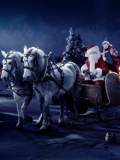 Christmas Santa Mobile Wallpaper