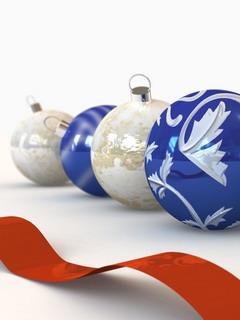 Christmas Lovely Balls Mobile Wallpaper
