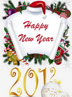 Happy New Year And Christmas Mobile Wallpaper