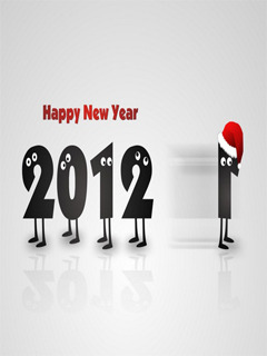 Christmas New Year 2012 Mobile Wallpaper