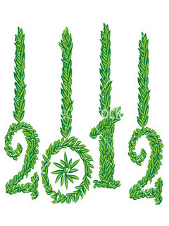 Green New Year 2012 Mobile Wallpaper