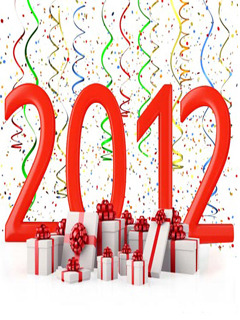 Surprising New Year 2012 Mobile Wallpaper