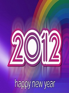 2012 New Year Mobile Wallpaper