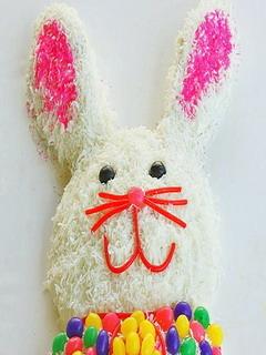 Bunny Surprise Cake Mobile Wallpaper