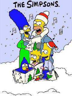 Simpson Christmas Mobile Wallpaper