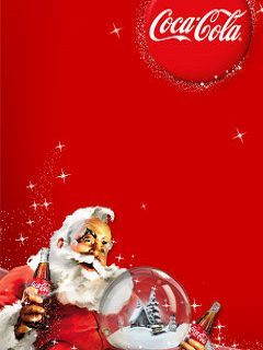 Santa With Coke Mobile Wallpaper