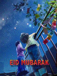 Cute Kids Eid Mubarak Wallpaper Mobile Wallpaper
