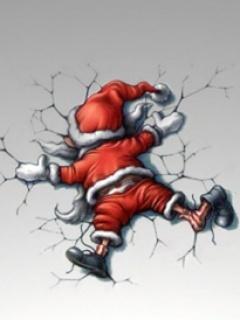 Santa Claus Fall Mobile Wallpaper