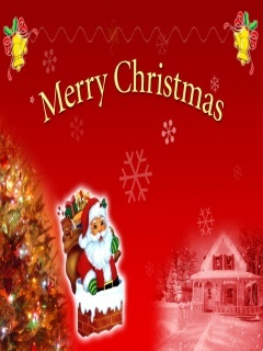 Santa Gift Merry Christmas Mobile Wallpaper