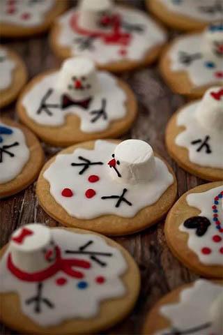 Christmas Snowman Cookies Funny Wallpaper Mobile Wallpaper