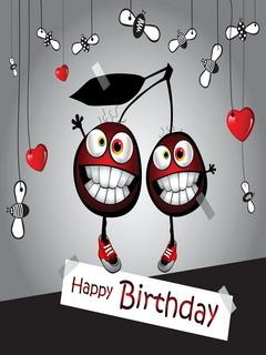 Smiley Happy Birthday Mobile Wallpaper