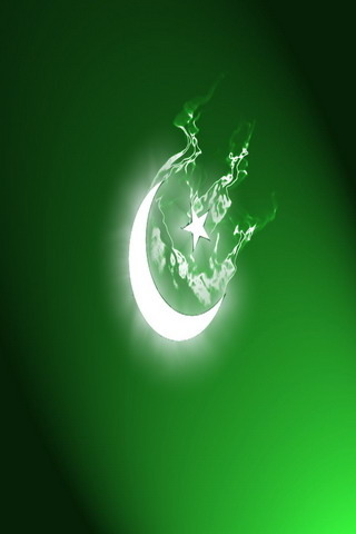 Moon Star Green Flag Android Wallpaper Mobile Wallpaper