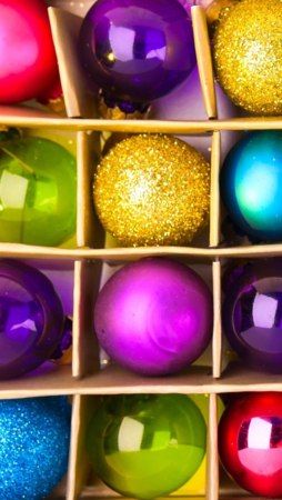 Colorful Christmas Balls IPhone Wallpaper Mobile Wallpaper