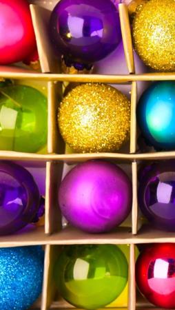 Colorful Christmas Balls IPhone Wallpaper Mobile Wallpaper