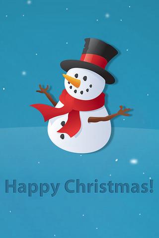 Snowman Christmas IPhone Wallpaper Mobile Wallpaper