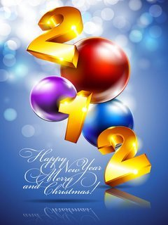 Happy New Year And Merry Christmas  Mobile Wallpaper