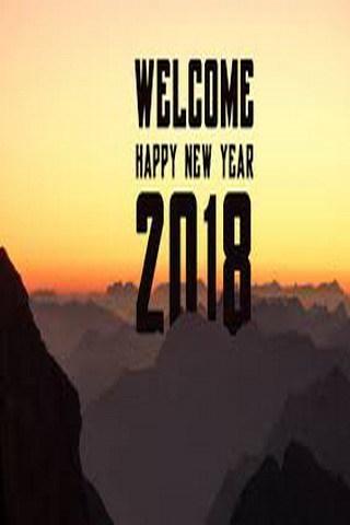 Evening Welcome To 2018 New Year Celebrate Mobile Wallpaper