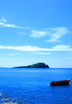 Boat Island Mobile Wallpaper