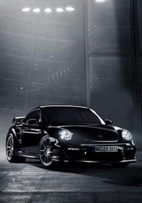 Black Sports Car Mobile Wallpaper