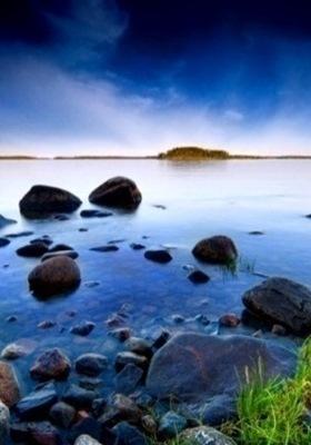 Natural Blue Water Mobile Wallpaper