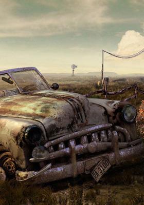 Damage Old Car Mobile Wallpaper