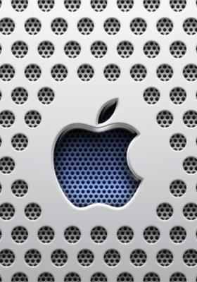 3D Apple Logo Mobile Wallpaper
