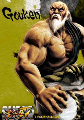 Gouken Super Street Fighter Mobile Wallpaper