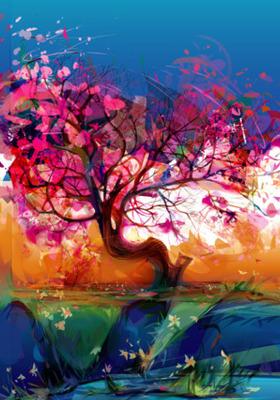 Colour Tree Mobile Wallpaper