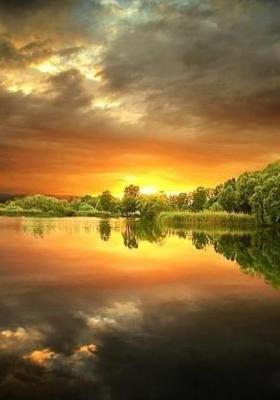 Sunset Reflection Mobile Wallpaper