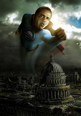 Obama Super Man Mobile Wallpaper