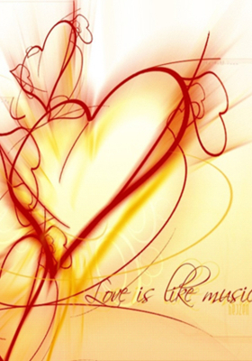 Love Is Music Mobile Wallpaper